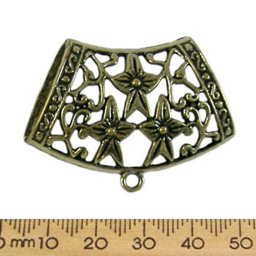 CLEARANCE BULK Extra Large Bronze Star Flower Scarf Bails