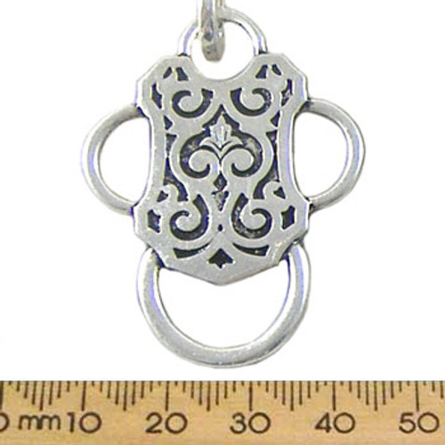 48mm Old Style Padlock Metal Pendant