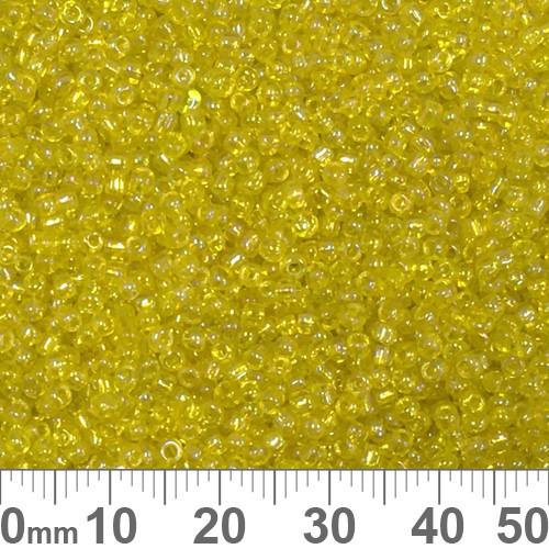 11/0 Yellow AB Seed Beads