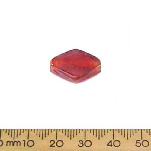 Orange Lustre Diamond Glass Beads