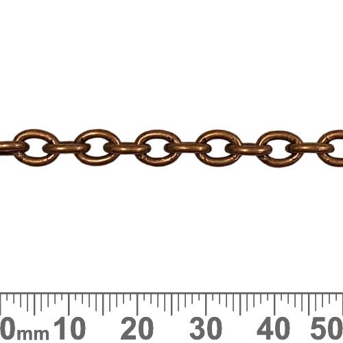 Copper 7.3mm Medium Heavy Oval Loop Chain