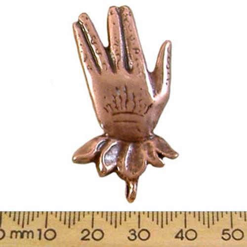 41mm Vulcan Hand Salute Metal Pendant