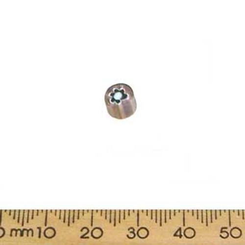 Purple Small Chevron Tube Glass Beads