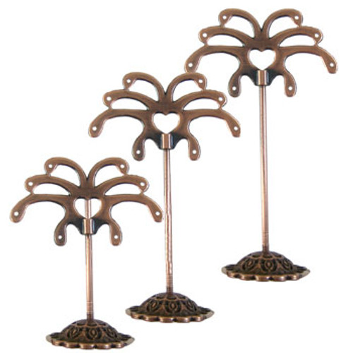 Copper Earring Display Stands (set of 3)