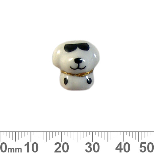 Cool Dog Ceramic Bead