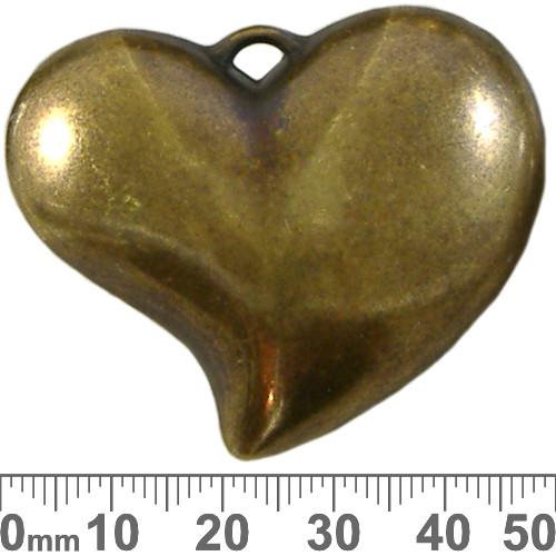 CCB 39mm Bronze Heart Pendant