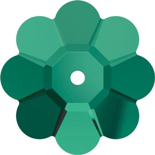 BULK 10mm Emerald Swarovski® Margarita Beads