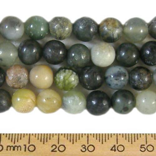 Forest Fancy Jasper 8mm Round Beads