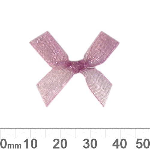 BULK 30mm Rose Purple Ribbon Bows