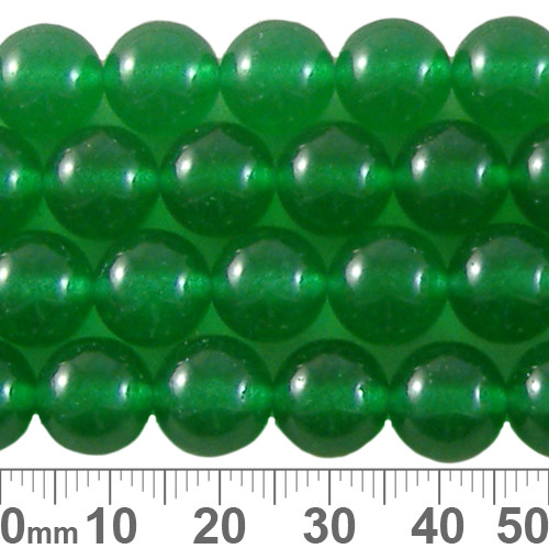 Dyed Green Chalcedony 10mm Round Beads