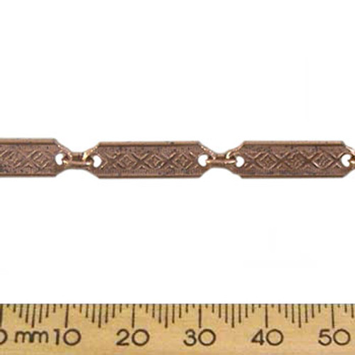 CLEARANCE 20mm Tag Chain - Bright Copper (50cm)