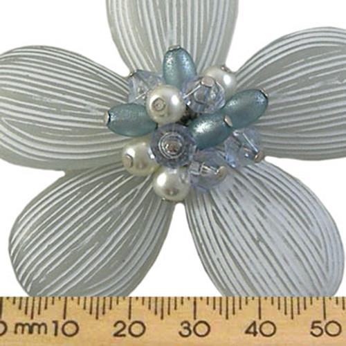 62mm Aqua Resin Flower Centrepiece Pendant