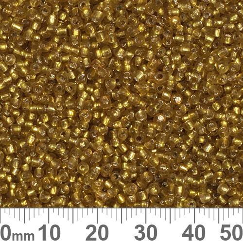11/0 Medium Amber S/L Seed Beads