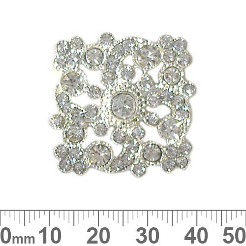 5 Strand Diamante Square Spacer Beads
