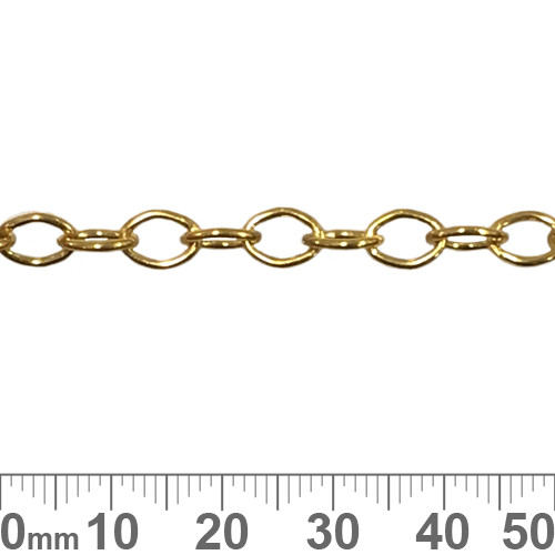 Bright Gold 6.8mm Medium Oval Loop Chain