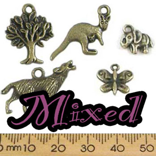 CLEARANCE Metal Charm Mixed Pack - Animals 2