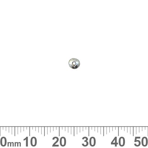 BULK Sterling Silver 3.6mm Plain Rondelle Beads