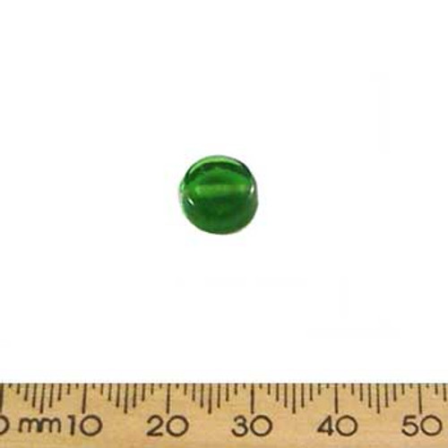 Medium Green Round Flat Disc Glass Beads