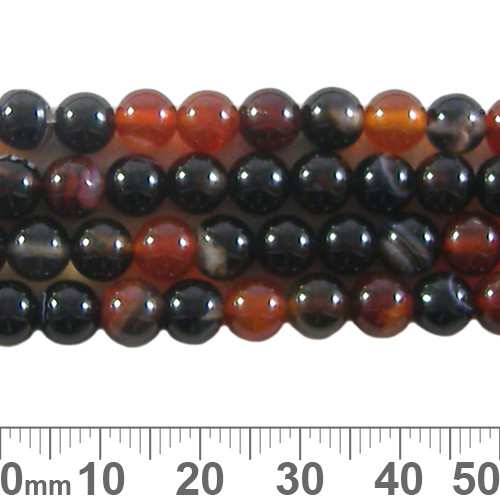 Agate 6mm Round Beads