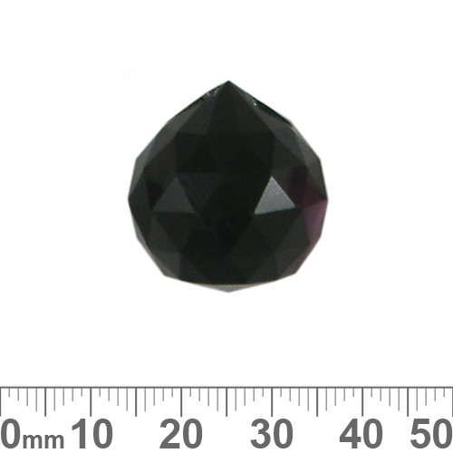 21mm Black Round Faceted Crystal Drops
