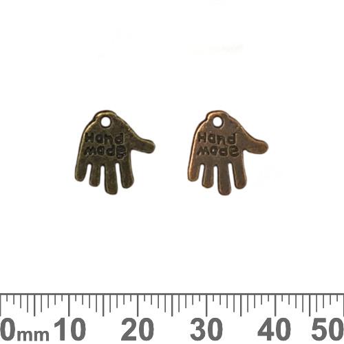 BULK Handmade Hand Metal Charms