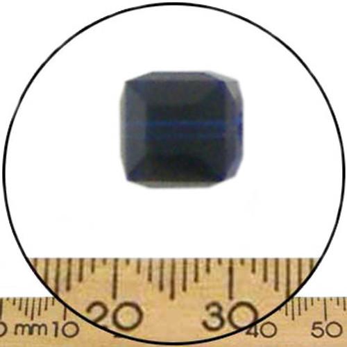 8mm Dark Indigo Swarovski Cube Beads