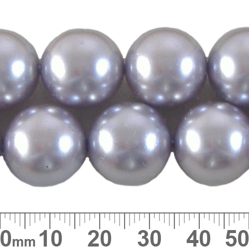 CLEARANCE 16mm Lavender Blue Round Czech Glass Pearl Strands