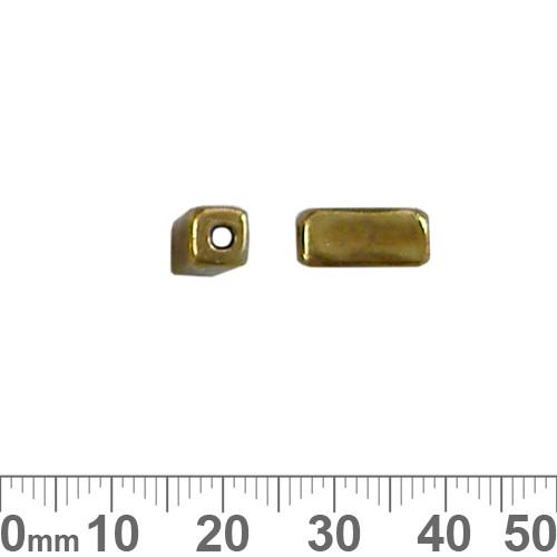 12mm Plain Large Hole Metal Square Tube Bead