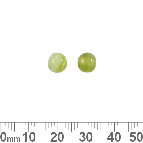 Mottled Green 6mm Round Glass Beads