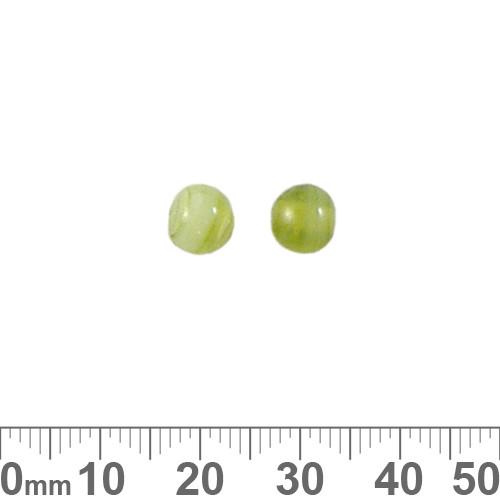 Mottled Green 6mm Round Glass Beads