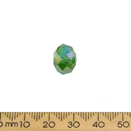 Green AB 12mm Rondelle Glass Crystal Bead