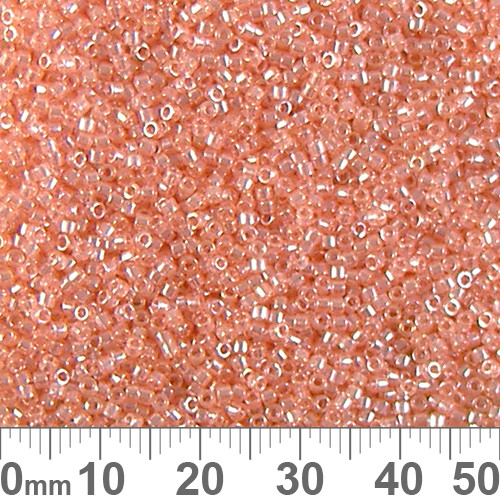 11/0 Transparent Glazed Lustre Pink Delica Seed Beads