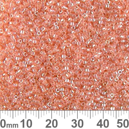 11/0 Transparent Glazed Lustre Pink Delica Seed Beads