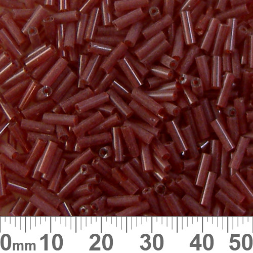 Dark Red 6mm Glass Bugle Beads