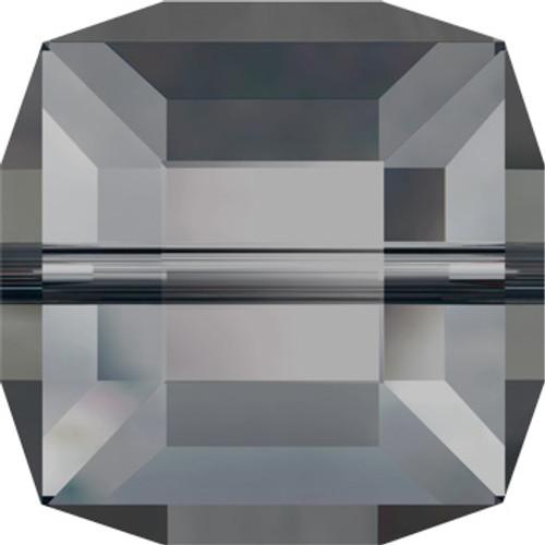 8mm Crystal Silver Night Swarovski® Cube Beads