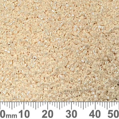 11/0 Opaque Light Cream Luster Delica Seed Beads