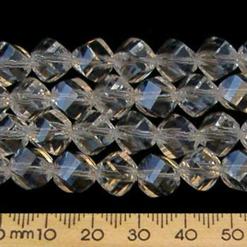 Crystal Clear 9mm Helix Glass Crystal Strands