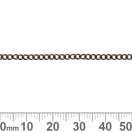 Copper 3mm Tiny Twisted Loop Chain