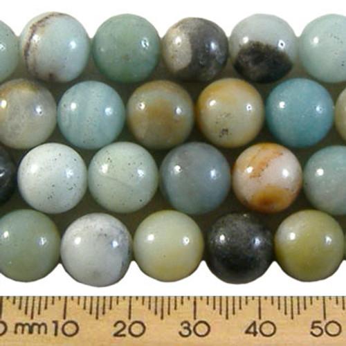Seafoam Fancy Jasper 10mm Round Beads