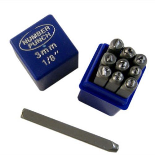 3mm Numbers Metal Punch Set