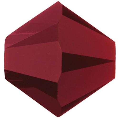 13 x 3mm Dark Red Coral Swarovski® Bicones