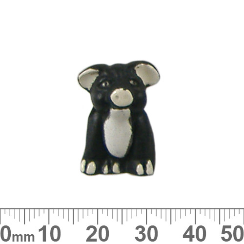 Black Pig Ceramic Bead