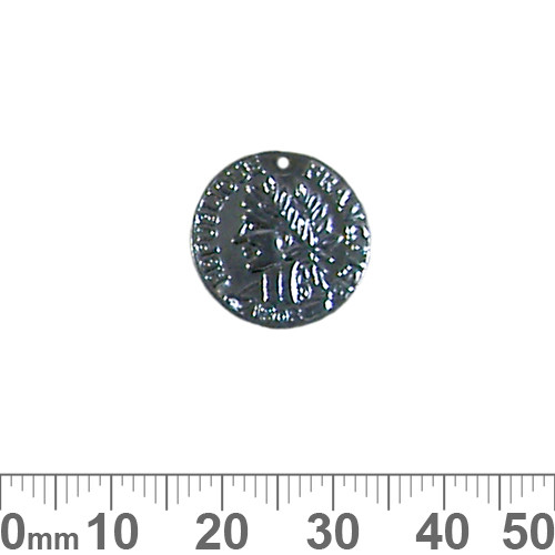 BULK Black 17mm French Coin Metal Charms