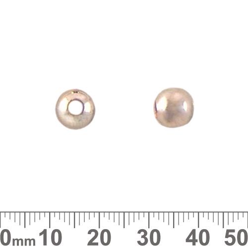 8mm Plain Metal Beads (Large Hole)