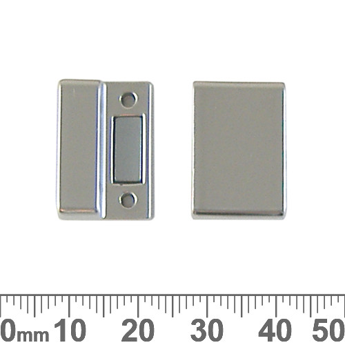 18mm Magnetic Rectangle Glue-In Clasp Set