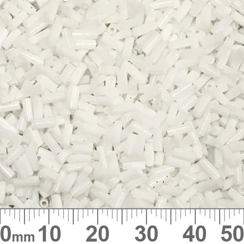 White 4mm Bugle Beads