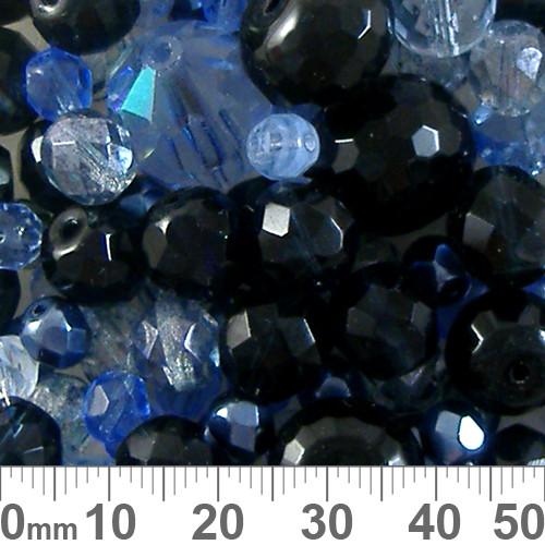 Blue Czech Glass Bead Mix