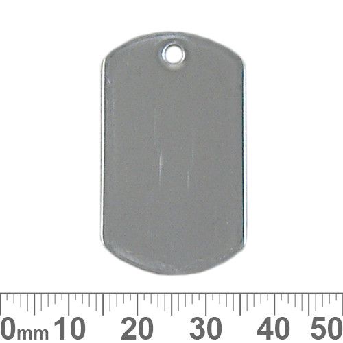 BULK 38mm Blank Dog Tag Charms