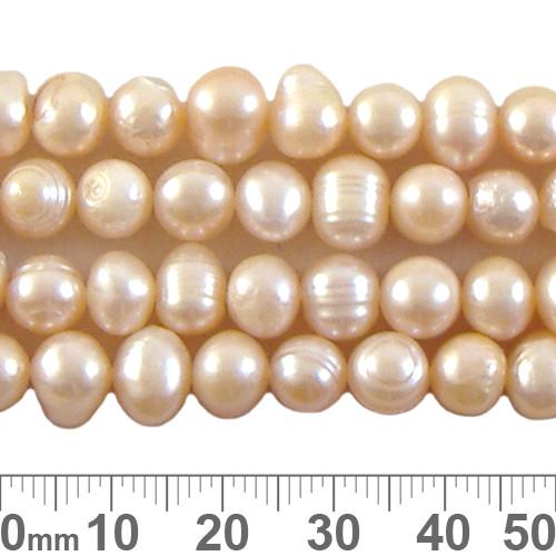 Medium Potato Peach Pearl Strands 1
