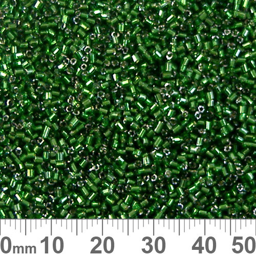 11/0 Emerald Green S/L Chinese A-Grade Tube Seed Beads